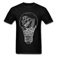 Sailor Light Whale Ship Men T-shirt 2018 Black/White Novelty Cartoon Design Adult Fitness Cotton Top T Shirts Hot Sale