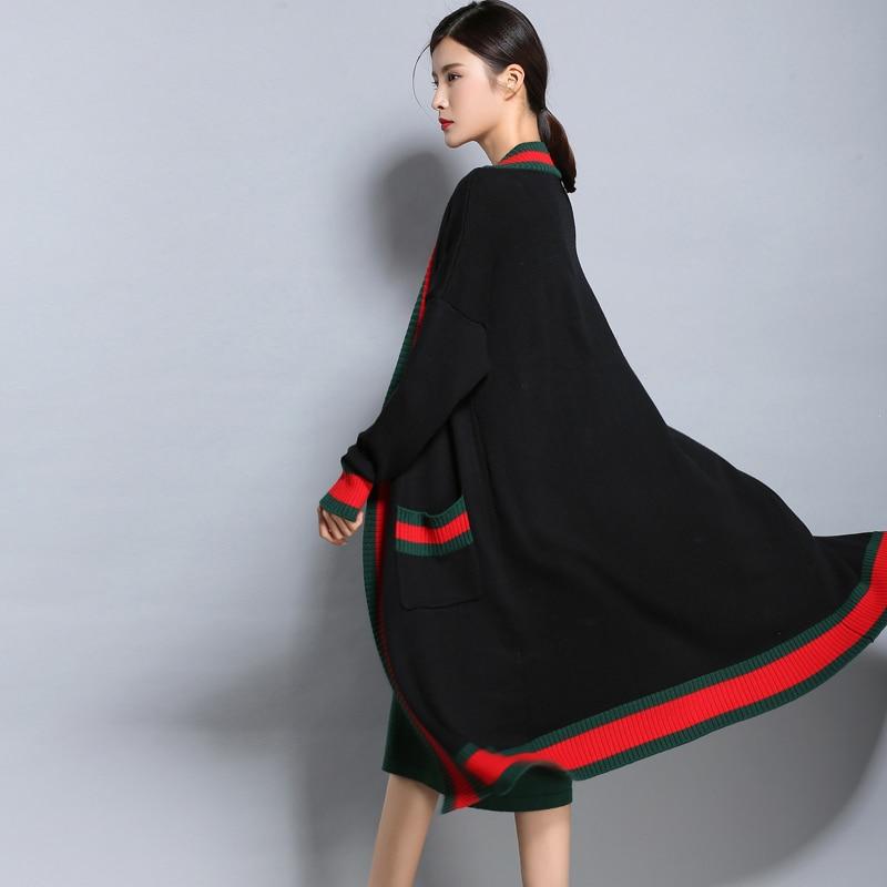 2018 Automne Hiver femme cardigan chandail à manches longues pull En Cachemire kimono cardigan femelle cardigans Tricoté Col V En Laine Manteau