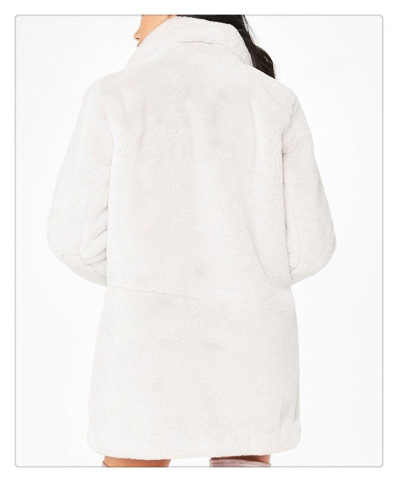 Imitation fur coat 2018 European and American women's wear long and loose plush soft rabbit hair (10)