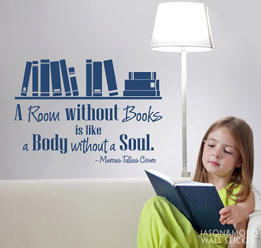 wall quote decal a room without books vinyl wall art decal quote