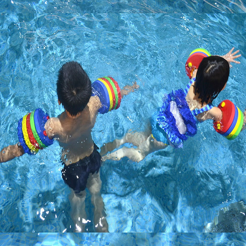 US $5.1 35% OFF|6PCs/ Pack EVA Foam Swim Discs Arm Bands Floating Sleeves  Inflatable Pool Float Board Baby Swimming Exercises Circles Rings-in ...