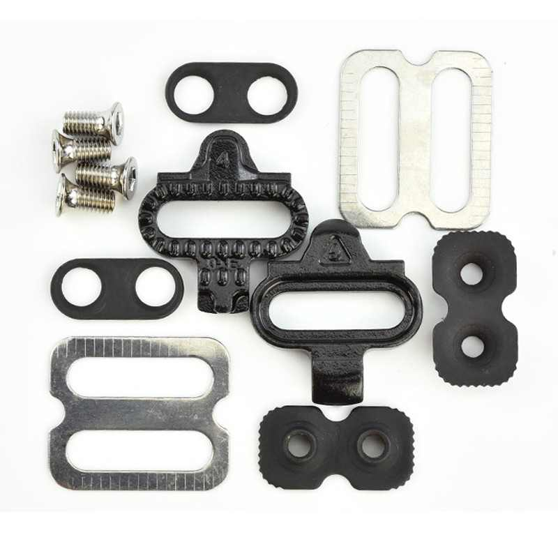 Mountain Cleat Fietsen MTB Cleat Set Clips Kit Hardware Noten Clip-in Schoenplaten voor SPD Pedalen Fiets Self- vergrendeling Pedalen Lock Hy