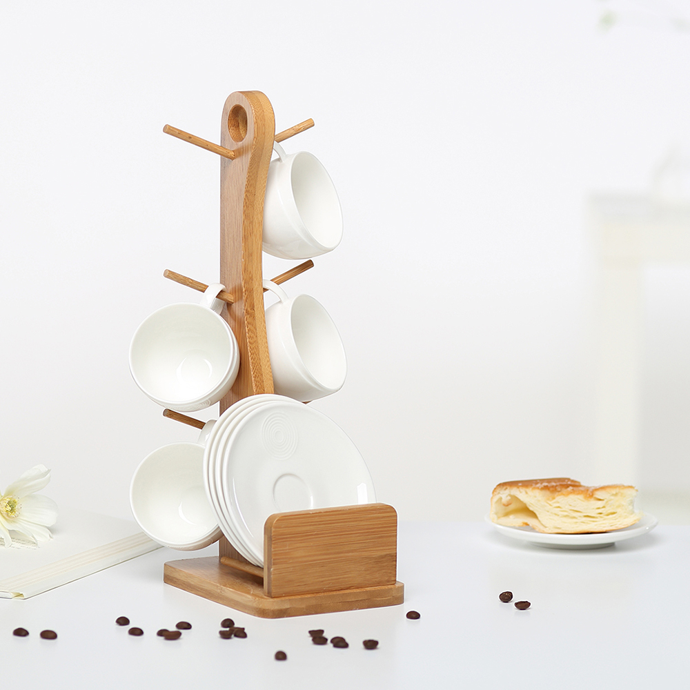The coffee cup sets 6-piece set tea pot High Quality Ceramic cup Creative gifts with plate and holder 120ml Free shiping