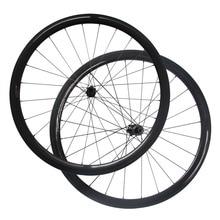 Rueda de disco de carbono con bloqueo central, D411SB/D412SB, eje Tubular de tracción recta o juego de ruedas de freno de disco Clincher