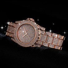New Gypsophila Womens Watch High-end Full Diamond Business Fashion Female Quartz Wrist