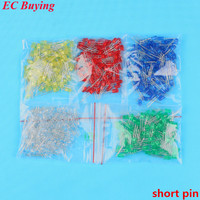 500pcs 5mm LED Diode Light Assorted Kit DIY LEDs Set Mixed Color Red Green Yellow Blue