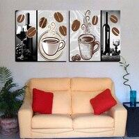 2 לוח מודרני בית תפאורה מופשט ציור קפה חדר קיר תמונות אמנות ציור הדפסי בד סט יין Cuadros Decoracion
