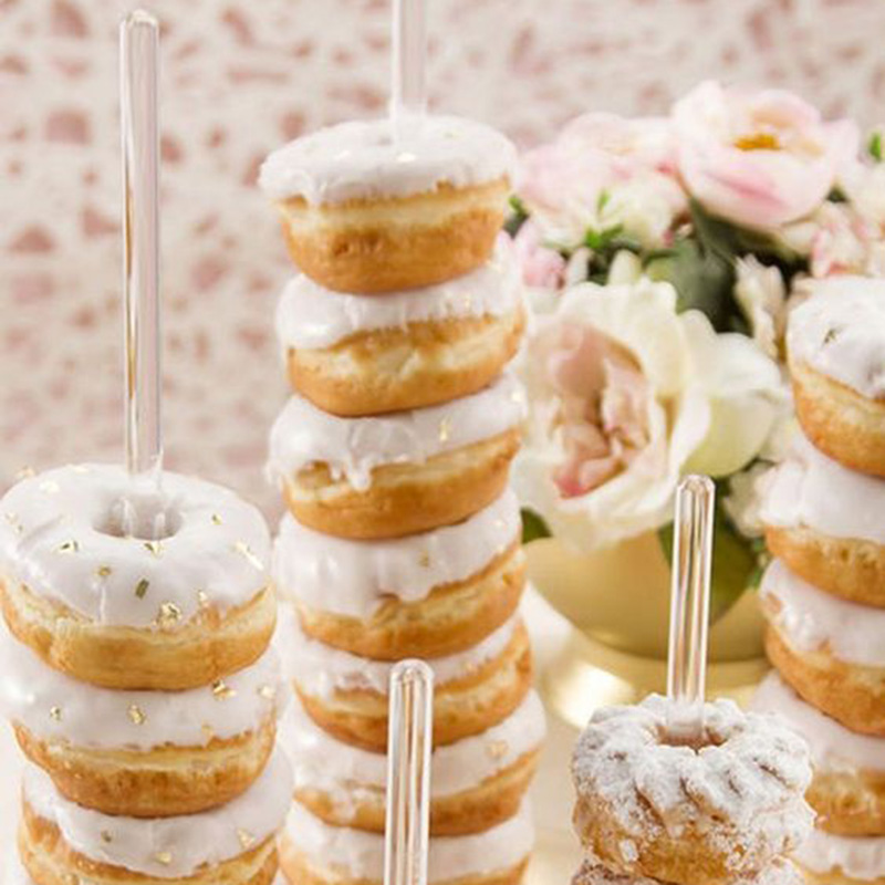Image 5 - Donut Wall Stand Wedding Decoration DIY Doughnut Display Bar With Base Baby Shower Birthday Party Cake Dessert Stand Table Decor-in Party DIY Decorations from Home & Garden