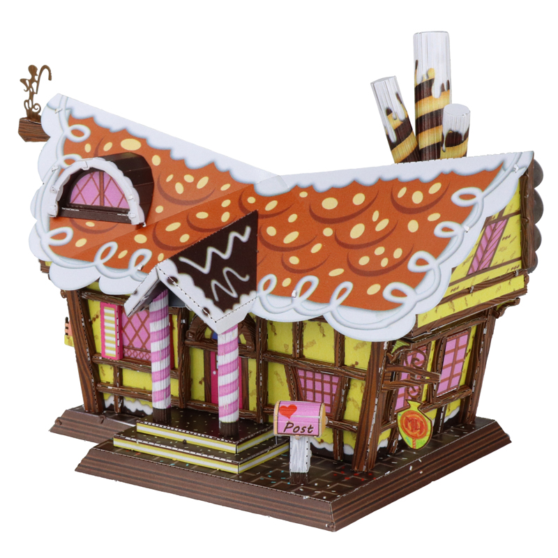 MU 3D Metal Puzzle Candy House General Series Model DIY Laser Cut Jigsaw Model For Adult Educational Toys Desktop decoration