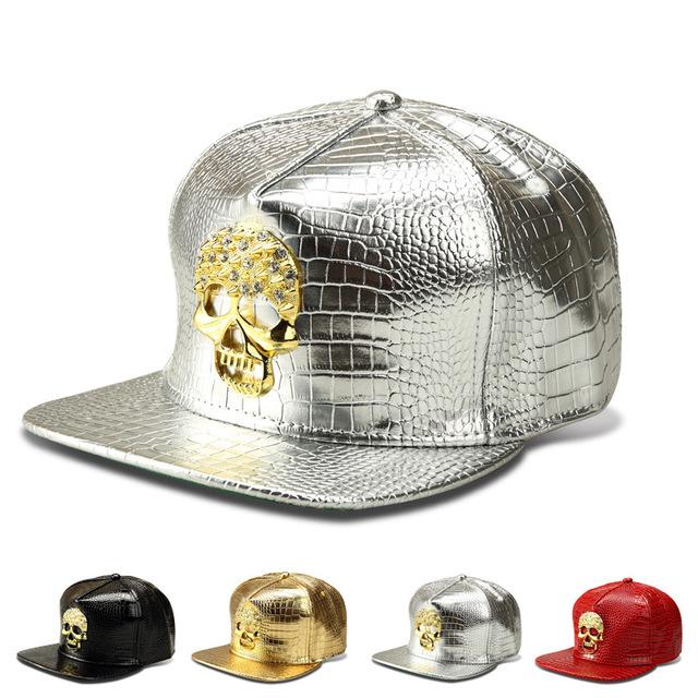 O novo Grão Crocodilo logotipo do crânio boné de beisebol do hip-hop chapéu de aba larga do chapéu maré marca afluxo de pessoas