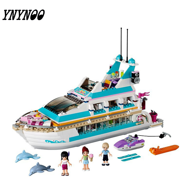 (YNYNOO)2017 10172 Friends Series Girls Large cruise ships Model Figures Building Blocks girl Summer toys Compatible With