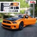 Maisto ford mustang gt orange 1:24 escala modelo de coche aleación de Metal Diecast Car Toys Colección Bebé Juguetes de Alta Calidad regalo