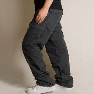 Image 3 - Inverno foderato in pile cargo uomini di doppio strato pantaloni caldi militare cargo pantaloni casual lungo baggy army outdoor pantaloni tattici