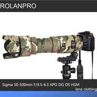 ROLANPRO lente camuflaje capa lluvia cubierta para Sigma APO 50-500mm F/4,5-6,3 DG OS HSM lente funda protectora Guns manga Foto DSLR