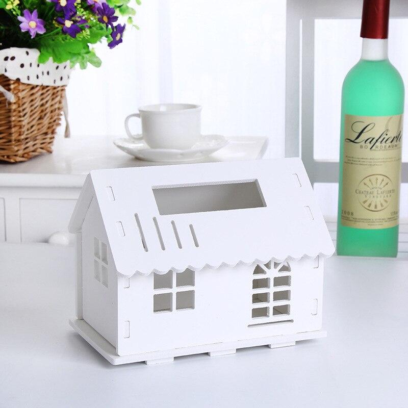 New Multifunctional Wood plastic board folding box desktop organizer makeup tools holder Cosmetic shelf Towel box