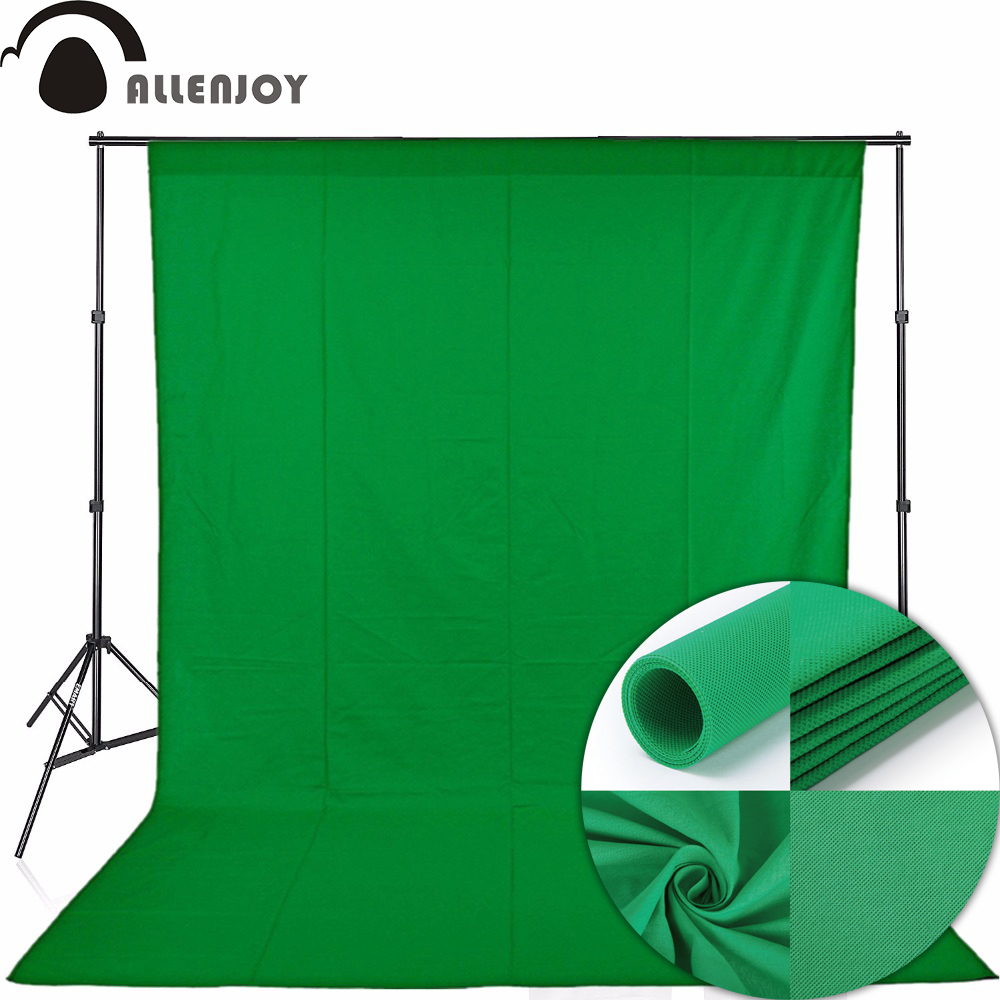 Allenjoy Green screen Chromakey portrait photography keying backdrop background non-woven fabric Professional for Photo Studio