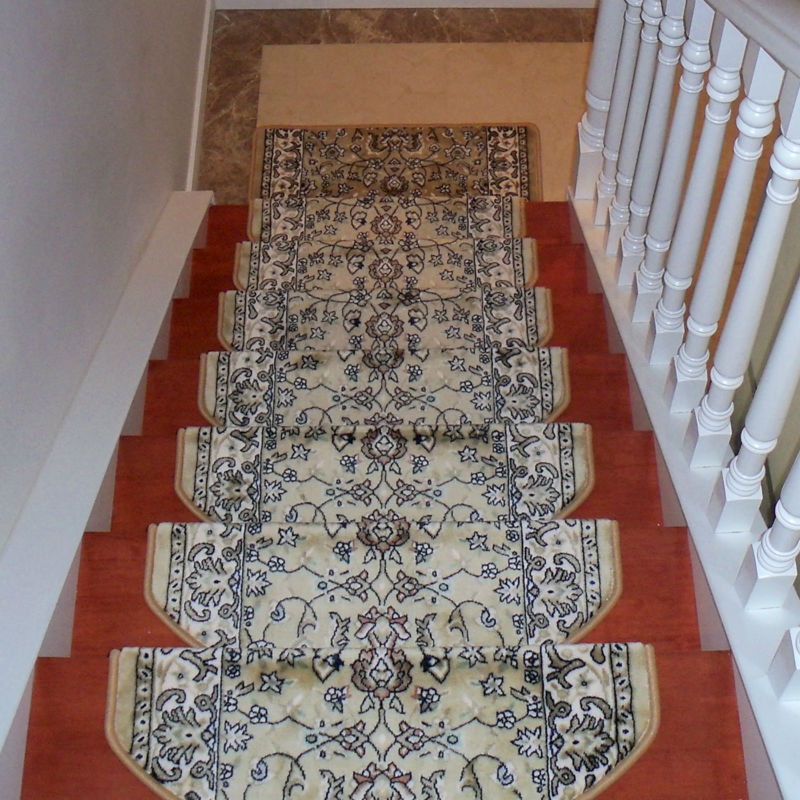 High-grade Staircase carpets Non-Slip mats and rugs for stairs skid treads pad Thickening /Durable Stable Adhesion no glue SR-2
