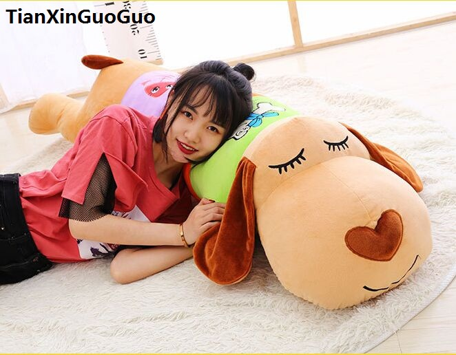 stuffed toy large 100cm cartoon prone dog plush toy coloured design lovely dog soft doll throw pillow Valentine's Day gift w2569 dog pillow toy soft stuffed toy plush doll small puppy high end boutique decoration birthday gift for girlfriend 70c0626