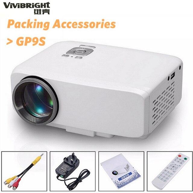 ФОТО GP9S LCD Projector 500 Lumens 800 x 480 Pixels VGA / USB / HDMI / SD Card Interface Support HD 1080P Audio Player EU/US Plug