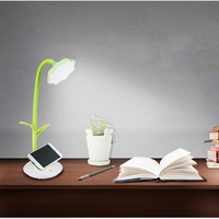 Creative Sunflower Table Lamp Phone Holder USB Charger LED Light Student Study Reading Desk Lamp Touch Sensor Night Light Gift