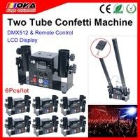 6 PCS/lot Magic FX Power Shot Professional Machine Confetti Cannon 2 Heads Electric Paper Launcher Effect Equipment|confetti cannon|magic fx|machine confetti -