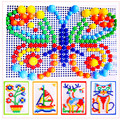 Portable Pins Creativity Set Kids Educational Learning Toy Mushroom Nail Combination Flapper DIY Patterns 296pcs