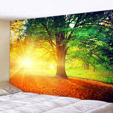 Sunlight Under The Forest Tree Printed Large Wall Tapestry Cheap Hippie Wall Hanging Bohemian Wall Tapestries Mandala Wall Art