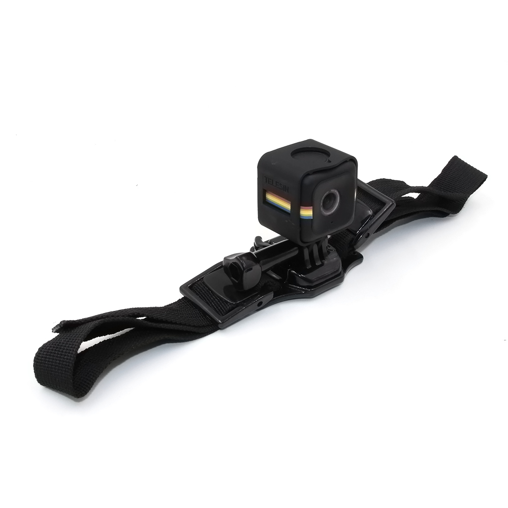 TELESIN New Bicycle Helmet Strap Mount with Frame Housing for Polaroid Cube and Cube+ and GoPro Action Camera Accessories Kit