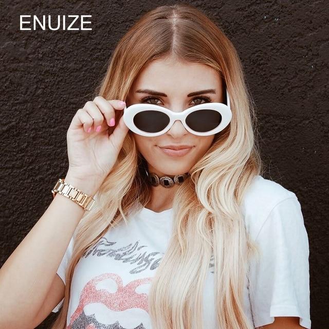 25098b45ae Vintage Unisex, diseñador de marca, gafas de sol de las mujeres blanco gafas  de