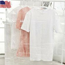 20x Dress Clothes Garment Suit Cover Bags Dustproof Storage Plastic Protector US