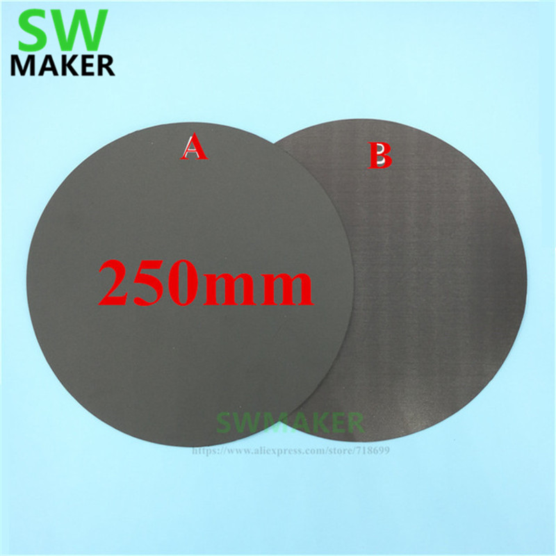 Computer & Office 3d Printers & 3d Scanners Qualified 250mm Round Magnetic Adhesive Print Bed Tape Print Sticker Build Plate Tape Flexplate A+b For Diy Kossel/delta 3d Printer Parts Aesthetic Appearance