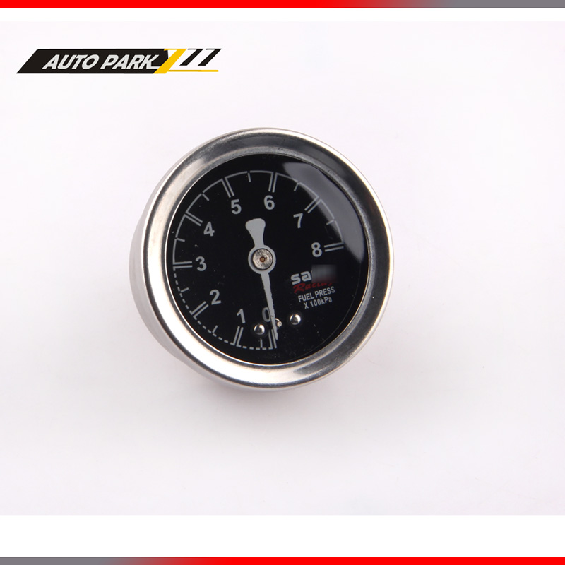 Fuel Pressure Gauge Liquid 0-100 sard Oil Pressure Gauge Fuel Gauge Black Face