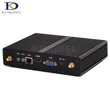Очень дешевые безвентиляторный мини-компьютер с Intel Celeron 2955U/Pentium 3556U двухъядерный Barebone настольных ПК USB 3.0 HDMI 1080 P