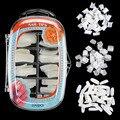 Pro 100PCS Natural Clear White False Acrylic French Half Full Toe Nail Art Tip & Box
