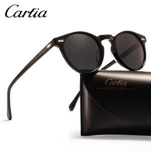 Image 2 - Carfiaแว่นตากันแดดPolarizedคลาสสิกยี่ห้อDesigner Gregory Peck Vintageแว่นตากันแดดผู้ชายผู้หญิงรอบดวงอาทิตย์แว่นตา 100% UV400 5288