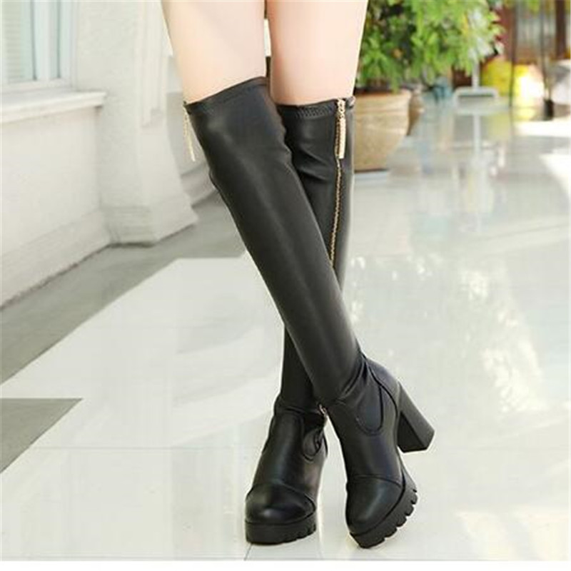 lady winter boots knee long Martin botas side zipper high-heeled knee boots riding equestrian leather boots sexy fashion shoes 15kw solar power system exported to 58 countries solar power water pump system