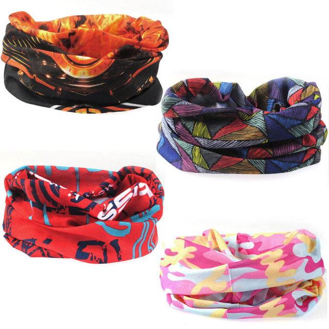 ABCD Outdoor multifunctional sports magicaf magic bandanas tube top seamless scarf collars muffler scarf face mask