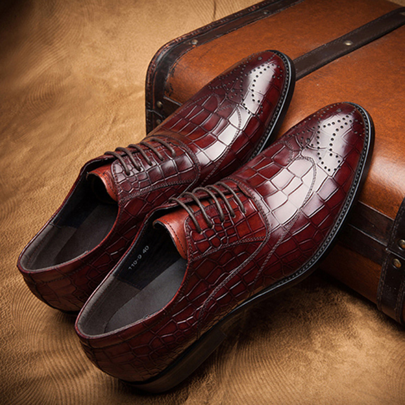 DESAI Top Quality Genuine Leather Shoes Men Business Dress Cow Leather Shoes Fashion Lace Up Formal