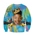 Raisevern Fashion 3D Hoodie Will Smith Fresh Prince of Bel Air Print 3D sweatshirt Long Sleeve Crewneck Tops S-XL Dropship