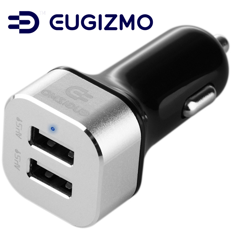 Dual USB car charger 4.8A power adapter 2 USB ports for tablets /& smartphones