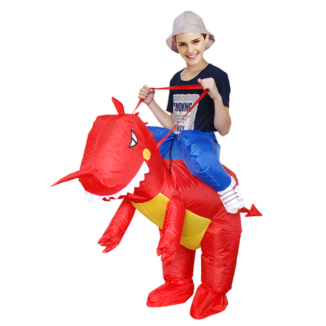 Adult Cosplay Costume Kids Inflatable Dinosaur Unicorn Cowboy Halloween Costumes For Women Wen Fantasia Party Jumpsuit 3