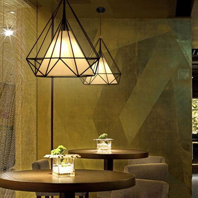 E27 Anhänger Lampe Romantische Hängen Licht für HangLamp Retro Esszimmer  Schlafzimmer Wohnzimmer Minimalistischen