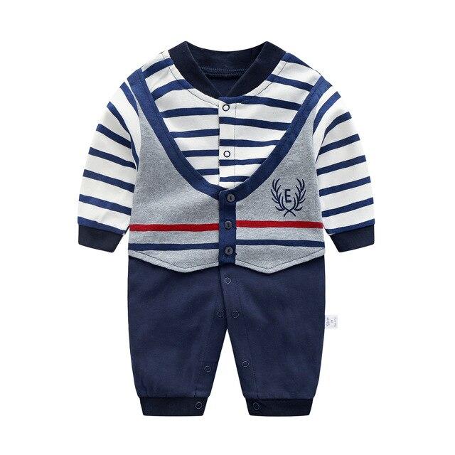 Baby Jumpsuit Herfst Kleding Pasgeboren Katoenen Kleding Baby Lange Mouwen Rompertjes Baby Jongens Vlinderdas Klimmen Roupa Pyjama Uitloper 1