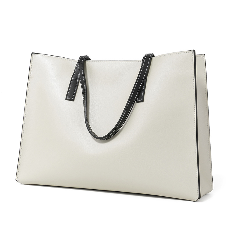 Grand B En Grande La Épaule Carré tout Fourre Cuir Cross New black section De Mode Femmes Sac Simple capacité Version White Coréenne UHOxn