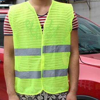 2018 kamizelka odblaskowa wysokiej widoczności fluorescencyjne bezpieczeństwa na zewnątrz odzież kamizelka odblaskowa kamizelka odblaskowa przewietrzyć kamizelka tanie i dobre opinie Motocyklista OVUIWEN