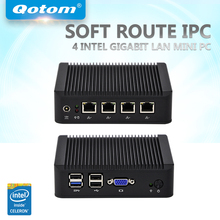 QOTOM Mini PC Q190G4 with 4 LAN port, using pfsense as router/ firewall, fanless PC no noise, Low power Mini PC Quad core 2 GHz