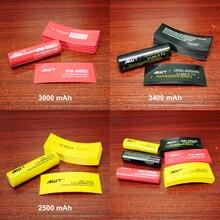 100 pcs/lot PVC boîtier thermorétractable pour emballage de gaine de batterie 18650 Film disolation de Tube thermorétractable