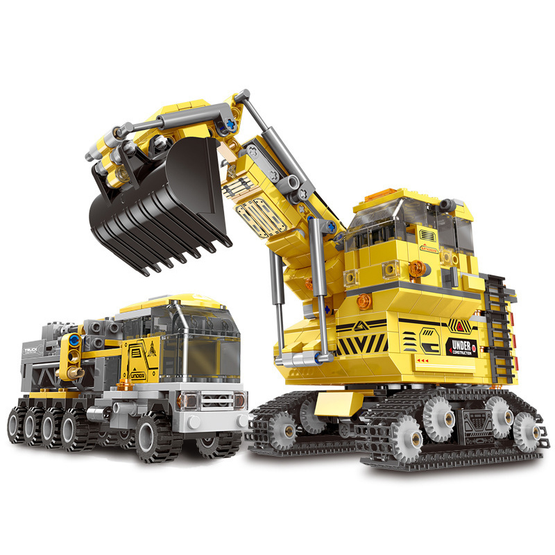 Creative Transformation Series The Giant Excavator Vehicle Set Building Blocks compatible with legoeinglys Bricks Kids Toys GiftCreative Transformation Series The Giant Excavator Vehicle Set Building Blocks compatible with legoeinglys Bricks Kids Toys Gift