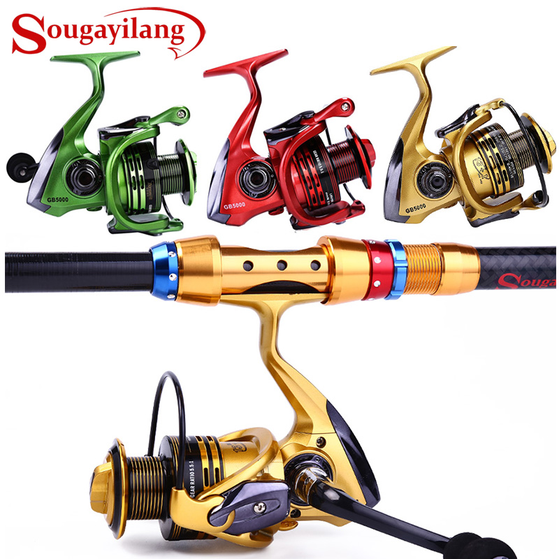 Sougayilang 13 + 1BB Fishing Reel GB2000-5000 Spinning Fishing Reels for Saltwater քաղցրահամ ջրերի ձկնորսություն Tackle De Pesca