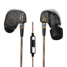 Newest KZ ATE In Ear Earphone Driver With MIC 3.5mm HIFI Metal Auriculares Earphones Super Bass Sport Headset Fone De Ouvido